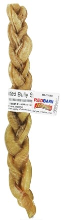 DROPPED: Redbarn - Natural Braided Bully Stick Dog Chew - 9 in. CLEARANCE PRICED