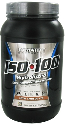 DROPPED: Dymatize Nutrition - ISO 100 100% Hydrolyzed Whey Protein Isolate Gourmet Chocolate - 1.6 lbs. CLEARANCE PRICED
