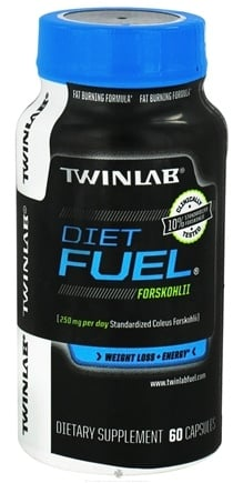 DROPPED: Twinlab - Forskohlii Diet Fuel 50mg Caffeine - 60 Capsules CLEARANCE PRICED