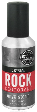 DROPPED: Crystal Body Deodorant - Rock Deodorant Men's Body Spray Onyx Storm - 4 oz. CLEARANCE PRICED