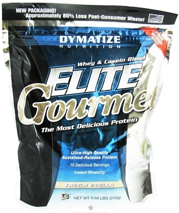 DROPPED: Dymatize Nutrition - Elite Gourmet Whey Casein Blend - 10 Servings French Vanilla - 324 Grams CLEARANCE PRICED
