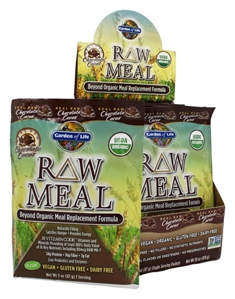 DROPPED: Garden of Life - RAW Meal Beyond Organic Meal Replacement Formula (10 x 87 g) Chocolate Cacao - 10 Packet(s) - (870 g)