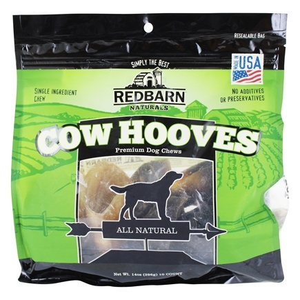 DROPPED: Redbarn - Natural Hooves Dog Chews - 10 Pack CLEARANCE PRICED