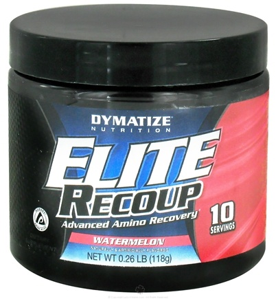 DROPPED: Dymatize Nutrition - Elite Recoup Advanced Amino Recovery - 10 Servings Watermelon - 118 Grams CLEARANCE PRICED
