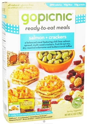 DROPPED: GoPicnic - Ready to Eat Meal Salmon & Crackers - 4.3 oz.