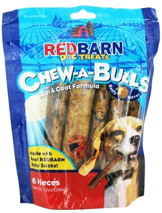 DROPPED: Redbarn - Chew-A-Bulls Dog Chews 6 in. Beefy Flavor - 6 Pack CLEARANCE PRICED