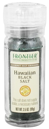 DROPPED: Frontier Natural Products - Gourmet Salt Grinder Hawaiian Black Salt - 3.5 oz. CLEARANCE PRICED