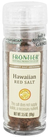 DROPPED: Frontier Natural Products - Gourmet Salt Grinder Hawaiian Red Salt - 3.5 oz. CLEARANCE PRICED