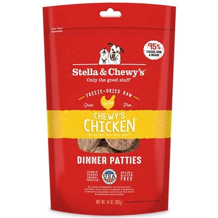 Stella & Chewy's - Freeze-Dried Dog Food Dinner Patties Chewy's Chicken - 14 oz.