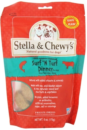 DROPPED: Stella & Chewy's - Freeze-Dried Dog Food Surf 'N Turf Dinner - 6 oz.