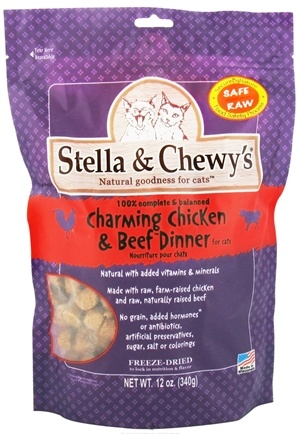 DROPPED: Stella & Chewy's - Freeze-Dried Cat Food Charming Chicken & Beef Dinner - 12 oz.