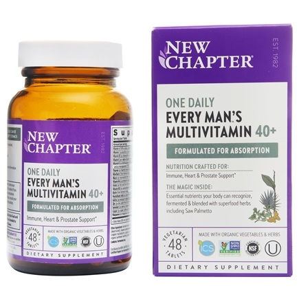 New Chapter - Every Man's One Daily 40 Plus - 48 Tablets