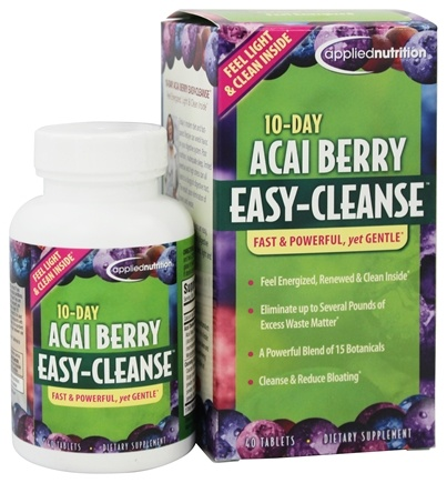 DROPPED: Applied Nutrition - 10-Day Acai Berry Easy Cleanse - 40 Tablets