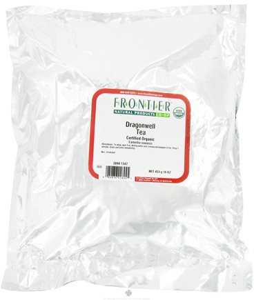 DROPPED: Frontier Natural Products - Bulk Dragonwell Tea Organic - 1 lb. CLEARANCE PRICED