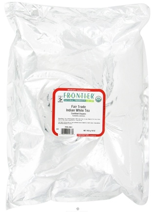 DROPPED: Frontier Natural Products - Bulk Indian White Tea Organic - 1 lb. CLEARANCE PRICED