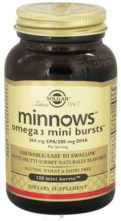 DROPPED: Solgar - Minnows Omega 3 - 120 Mini Bursts - CLEARANCE PRICED