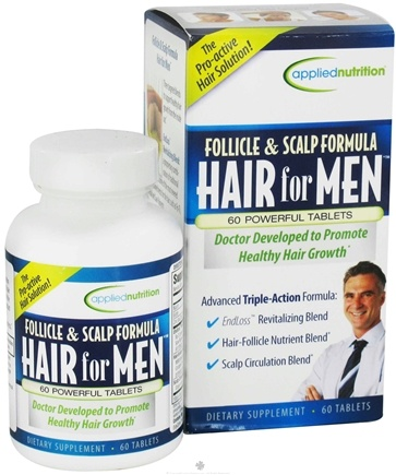 DROPPED: Applied Nutrition - Follicle and Scalp Formula Hair For Men - 60 Tablets CLEARANCE PRICED