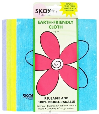 DROPPED: Skoy Cloth - Reusable Multi-Use Cleaning Cloth Eco-Friendly Assorted Colors - 4 Pack