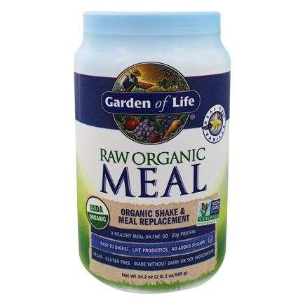 Garden of Life - RAW Meal Organic Shake & Meal Replacement Vanilla - 34.2 oz.