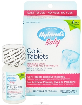 DROPPED: Hylands - Baby Colic Tablets - 125 Tablets