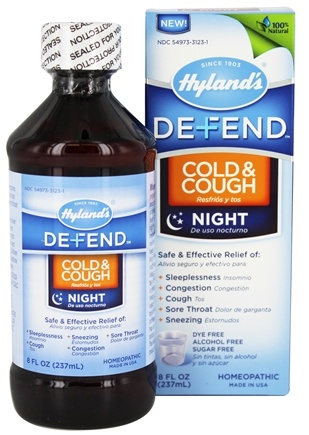 DROPPED: Hylands - Defend Cold & Cough Night - 8 oz.