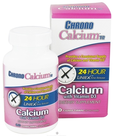 DROPPED: Chrono Healthcare - Chrono Calcium With Vitamin D TR - 60 Tablets CLEARANCE PRICED