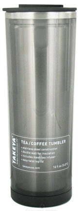 DROPPED: Takeya USA - Double Wall Stainless Steel Tea/Coffee Tumbler and Lid Black - 16 oz.