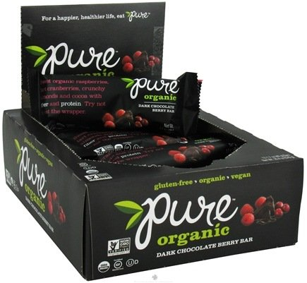 DROPPED: PureBar - Pure Organic Bar Dark Chocolate Berry - 1.7 oz. CLEARANCE PRICED