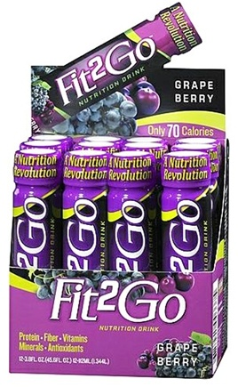 DROPPED: IDS Sports - New Whey Fit 2 Go Nutrition Drink Grape - 3.8 oz.