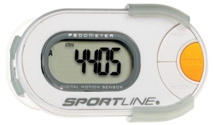 DROPPED: Sportline - 310 Qlip Any-Wear Pedometer with Infiniti Motion Sensor White - 1 Monitor(s)