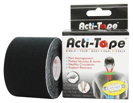 DROPPED: NutriWorks - Kinesiology Acti-Tape Black - 1 Roll(s)