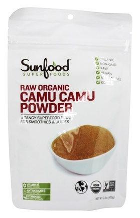 Sunfood Superfoods - Raw Organic Camu Camu Powder 100 g. - 3.5 oz.