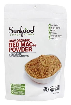Sunfood Superfoods - Raw Organic Red Maca Powder 227 g. - 8 oz.