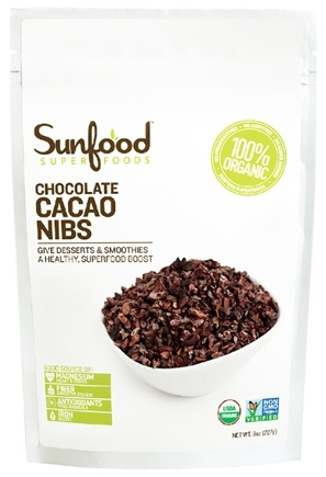 DROPPED: Sunfood Superfoods - Chocolate Cacao Nibs - 8 oz.
