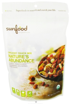 DROPPED: Sunfood Superfoods - Organic Snack Mix Nature's Abundance - 8 oz. CLEARANCE PRICED