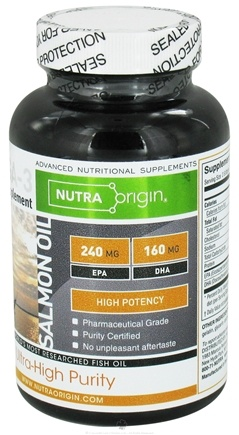 DROPPED: Nutra Origin - Omega-3 Salmon Oil High Potency - 60 Softgels CLEARANCE PRICED