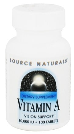 DROPPED: Source Naturals - Vitamin A 10000 IU - 100 Tablets
