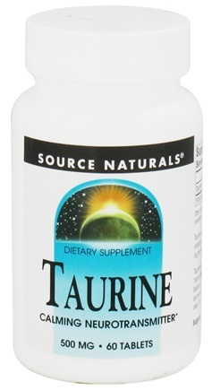 DROPPED: Source Naturals - Taurine 500 mg. - 60 Tablets