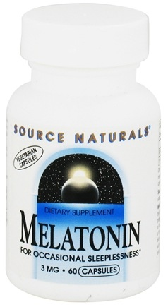 DROPPED: Source Naturals - Melatonin 3 mg. - 60 Vegetarian Capsules CLEARANCE PRICED