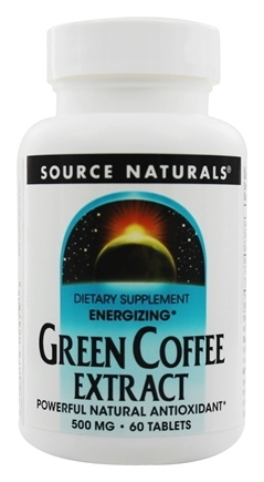 DROPPED: Source Naturals - Green Coffee Extract Energizer - 60 Tablets (with GCA)
