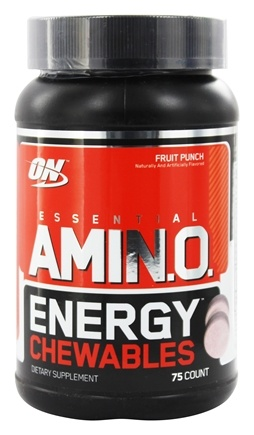 DROPPED: Optimum Nutrition - Essential AmiN.O. Energy Chewables Fruit Punch - 75 Chewables