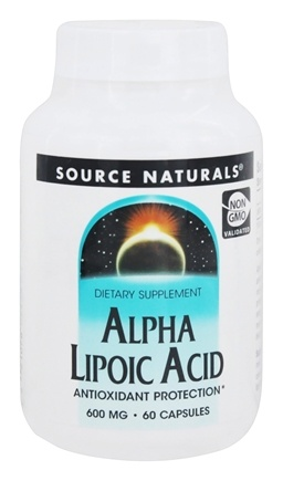 Source Naturals - Alpha Lipoic Acid 600 mg. - 60 Capsules