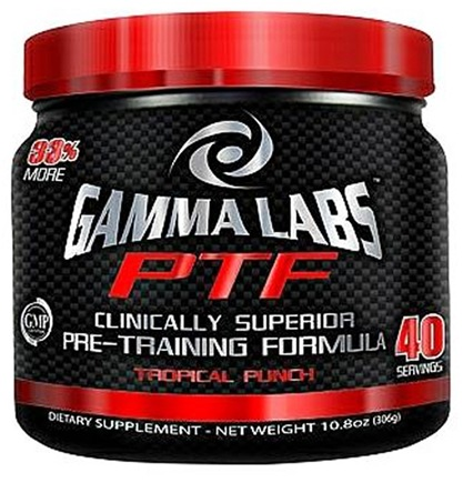 DROPPED: Gamma-Labs - PTF Pre Training Formula 40 Servings Tropical Punch - 10.8 oz.