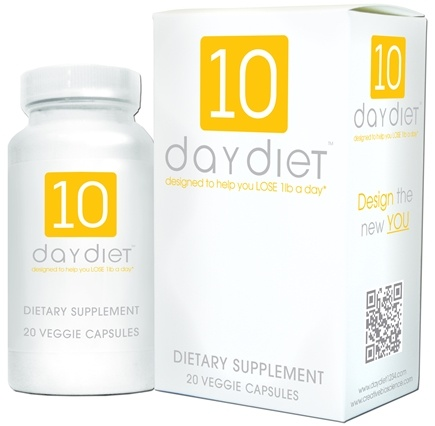 DROPPED: Creative BioScience - 10 Day Diet - 20 Vegetarian Capsules CLEARANCE PRICED