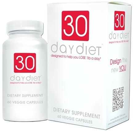 DROPPED: Creative BioScience - 30 Day Diet - 60 Vegetarian Capsules CLEARANCE PRICED