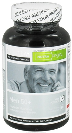 DROPPED: Nutra Origin - Multi Today Men 50+ Essential Nutrients High Potency - 60 Caplets CLEARANCE PRICED