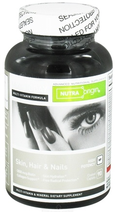 DROPPED: Nutra Origin - Multi Today Skin, Hair and Nails High Potency - 90 Caplets CLEARANCE PRICED