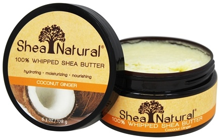 DROPPED: Shea Natural - 100% Whipped Shea Butter Coconut Ginger - 6.3 oz.