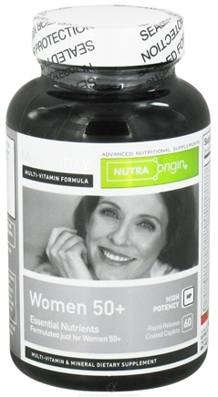 DROPPED: Nutra Origin - Multi Today Women 50+ Essential Nutrients High Potency - 60 Caplets CLEARANCE PRICED