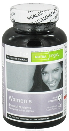 DROPPED: Nutra Origin - Multi Today Women's Essential Nutrients High Potency - 60 Caplets CLEARANCE PRICED